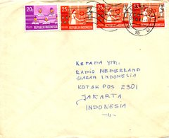 INDONESIE. N°577-8 De 1969 Sur Enveloppe Ayant Circulé. Education/Recherche. - Indonésie