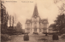 Merbes-le-Château Propriété De Mr. Marquet -  Très Belle Carte  Rare - état Voir Scan. - Thuin