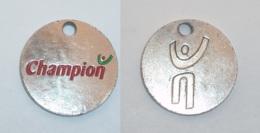 JETON DE CADDIE METAL, MAGASIN CHAMPION  02 - Trolley Token/Shopping Trolley Chip