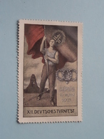 XII DEUTSCHES TURNFEST LEIPZIG 1913 ( Sluitzegel Timbres-Vignettes Picture Stamp Verschlussmarken ) ! - Cachets Généralité