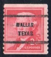"""USA Precancel Vorausentwertung Preo, Locals """"DALLAS"""" (Texas). Roulette. - Preobliterati"""
