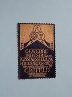 CREFELD 1911 Gewerbe Industrie Und Kunstausstellung ( Sluitzegel Timbres-Vignettes Picture Stamp Verschlussmarken ) - Seals Of Generality