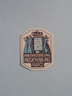 1910 REGENSBURG KREISAUSSTELLUNG ( Sluitzegel Timbres-Vignettes Picture Stamp Verschlussmarken ) - Cachets Généralité