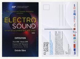 CP Pub - Exposition Electro Sound à L'espace EDF Bazacle à Toulouse - Le Son Et La Lumière Font Leur Show - Ansichtskarten