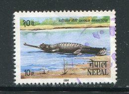 NEPAL- Y&T N°414- Oblitéré (crocodile) - Nepal