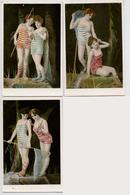 Illustrateurs : K.V.I.B. 12. : Série 840 - 3 CPA - Jeunes Femmes à La Pêche - Illustrateurs & Photographes