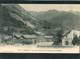 CPA - CAUTERETS - La Gare D'arrivée Du Tramway De Pierrefitte, Animé  (dos Non Divisé) - Cauterets