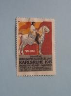 1915 KARLSRUHE Badische Jubiläums Austellung ( Sluitzegel Timbres-Vignettes Picture Stamp Verschlussmarken ) - Cachets Généralité
