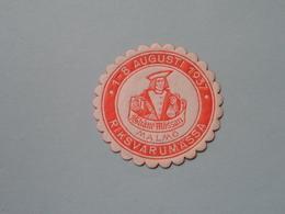 1937 RIKSVARUMASSA MALMÖ ( Sluitzegel Timbres-Vignettes Picture Stamp Verschlussmarken ) - Cachets Généralité