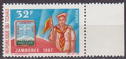 Timbre Neuf ** N° 143(Yvert) Tchad 1967 - Jamboree Mondial D'Idaho - Tchad (1960-...)