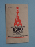 1925 BERLIN - BURO Ausstellung ABA ( Sluitzegel Timbres-Vignettes Picture Stamp Verschlussmarken ) - Seals Of Generality