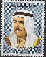KUWAIT 1969 Amir Sheikh Sabah - 75f - Blue FU - Kuwait