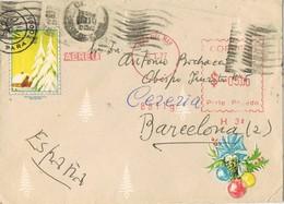 30967. Carta Aerea VIÑA Del MAR (Chile) 1977. Franqueo Mecanico. Viñeta, Label Impresa - Chile