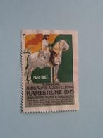 1915 KARLSRUHE Badische Ausstellung Industrie ( Sluitzegel Timbres-Vignettes Picture Stamp Verschlussmarken ) - Cachets Généralité