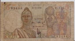 FRENCH WEST AFRICA P. 36 5 F 1953 F - États D'Afrique De L'Ouest