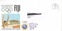 30969. Carta Aerea SUVA (Fiji Islands) 1992. Olympic Games Barcelona 92 - Fiji (1970-...)