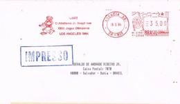 30970. Carta Impresos RIO De JANEIRO (Brasil) 1984. Franqueo Mecanico AGENCIA ABI - Brasil