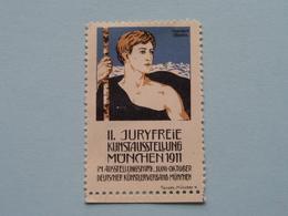 1911 Juryfreie MUNCHEN Kunstausstellung ( Sluitzegel Timbres-Vignettes Picture Stamp Verschlussmarken ) - Cachets Généralité