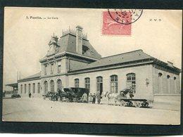 CPA - PANTIN - La Gare, Animé - Attelages - Pantin
