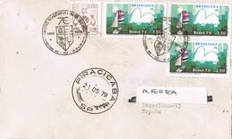 30971. Carta Aerea PIRACICABA (Brasil) 1979. Centro Academico Luiz De Queiroz - Brasil