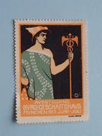 Ausstellung BURO Und Geschaftshaus MUNCHEN 1913 ( Sluitzegel Timbres-Vignettes Picture Stamp Verschlussmarken ) - Cachets Généralité