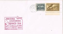 30972. Carta F.D.C. HABANA (Cuba) 1954. Industria Azucarera. Azucar, Sugar - FDC