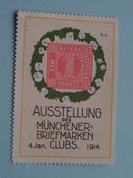 Ausstellung Der MUNCHENER-BRIEFMARKEN CLUBS 1914 ( Sluitzegel Timbres-Vignettes Picture Stamp Verschlussmarken ) - Cachets Généralité