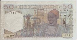 FRENCH WEST AFRICA P. 39 50 F 1950 F/VF - États D'Afrique De L'Ouest