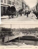 CPA 60 Oise Compiègne Guerre De 14 émigrés Du Nord Pont Sur Péniches - Guerre 1914-18
