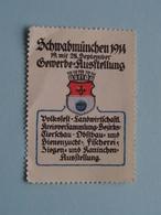 Schwabmünchen 1914 Gewerbe-Ausstellung ( Sluitzegel Timbres-Vignettes Picture Stamp Verschlussmarken ) - Cachets Généralité