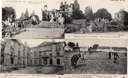 CPA 60 Oise Senlis Guerre De 14 Après Bombardement Champ Bataille Recherche Balles Rue République Maisons - Guerre 1914-18