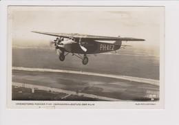 Vintage Rppc KLM K.L.M Royal Dutch Airlines Fokker F-VIIb Aircraft - 1919-1938: Between Wars