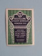 Ausstellung 1910 MÜNCHEN Bemalter Wohnraume ( Sluitzegel Timbres-Vignettes Picture Stamp Verschlussmarken ) - Seals Of Generality