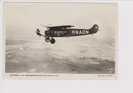 Vintage Rppc KLM K.L.M Royal Dutch Airlines Fokker F-VIIa Aircraft - 1919-1938: Between Wars