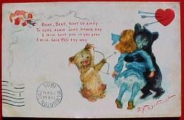 Cpa TUCK  OURS CHIEN ET ENFANT ST VALENTIN 1905 , ILLUSTRATEUR  R F OUTCAULT , VALENTINE  BEAR DOG HEART A/s - Saint-Valentin