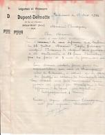 1933 - BERLAIMONT (59) - Légumes & Primeurs - DUPONT-DELMOTTE - Alimentaire