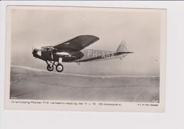 Vintage Rppc KLM K.L.M Royal Dutch Airlines Fokker F-IX Aircraft - 1919-1938: Between Wars