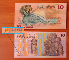 Cook Islands 10 Dollars 1987 P-4 GEM UNC Low Serial Number BAY 000360 - Cook Islands