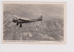 Vintage Rppc KLM K.L.M Royal Dutch Airlines Fokker F-VIII Aircraft - 1919-1938: Between Wars