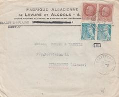 France Lettre Censurée Brazey En Plaine Pour L'Alsace 1942 - Marcophilie (Lettres)