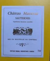 9410 -  Château Masserau Sauternes - Bordeaux