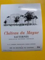 9412 -  Château Du Mayne 1982 Sauternes - Bordeaux
