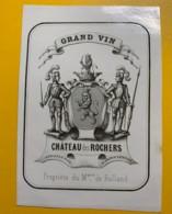 9421 - Grand Vin  Château Des Rochers Sauternes Marquis De Rolland - Bordeaux