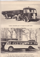CAMION AUTOMOBILE POUR TRANSPORT DES POIDS LOURDS / CAR POUR TOURISTES  / PAS CP / 24X30 CM - Camions & Poids Lourds
