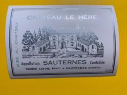 9431 -   Château Le Hère Sauternes - Bordeaux