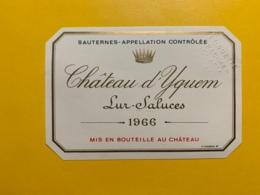9433 -   Château D'Yquem1966 Sauternes Spécimen - Bordeaux