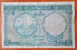 French Indoсhina 5 Piastres (5 Kip ) 1953 P-101 Lao Laos - Indochine