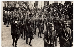 VECCHIA FOTOGRAFIA - MILITARI IN MARCIA - Vedi Retro - Guerra, Militares