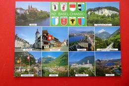 N2 Basel - Chiasso - Wappen Sursee Sempach Bellinzona Göschenen - Schweiz  Straße - Postcards