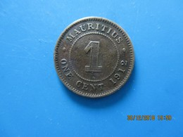 ÎLE MAURICE 1 Cent Georges V 1912, TTB - Mauritius